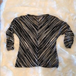 Chico's Travelers Black/Silver Top 1
